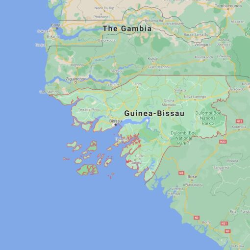 Guinea Bissau Border Countries Map