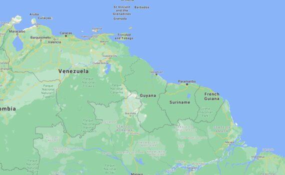 Guyana Border Countries Map