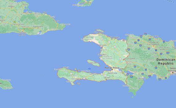 Haiti Border Countries Map