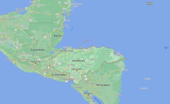 Honduras Border Countries Map