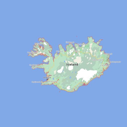 Iceland Border Countries Map