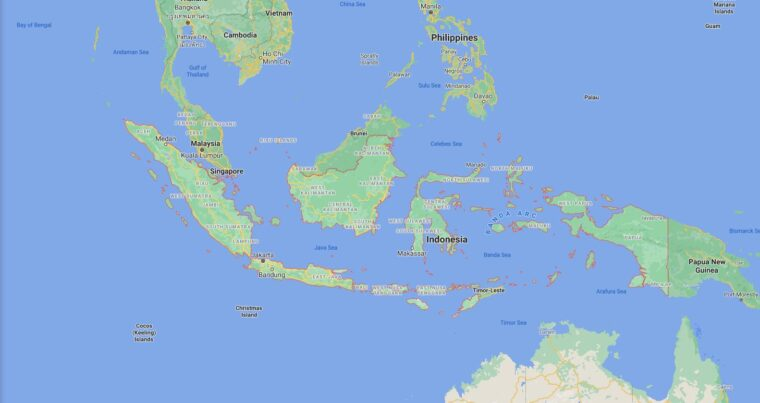 Indonesia Border Countries Map