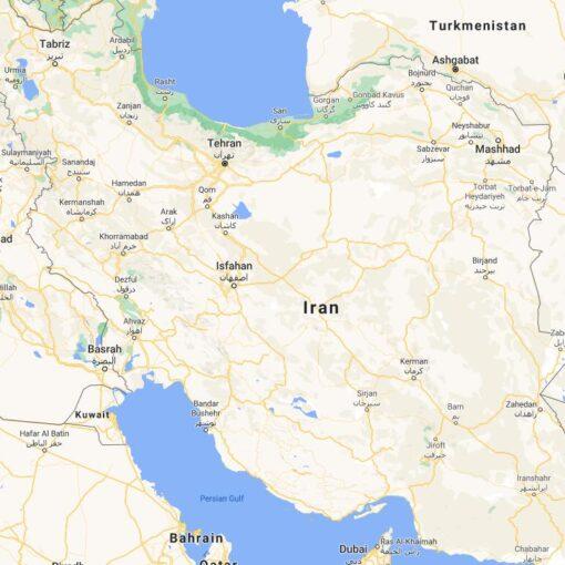 Iran Border Countries Map
