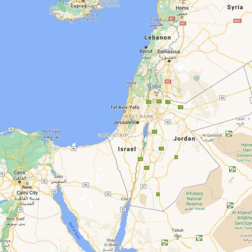 Israel Border Countries Map