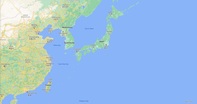Japan Border Countries Map