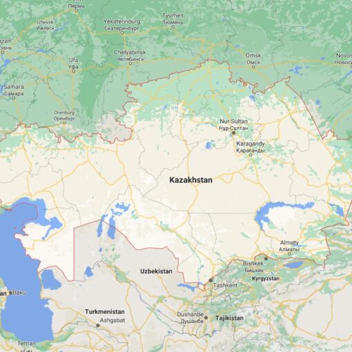 Kazakhstan Border Countries Map