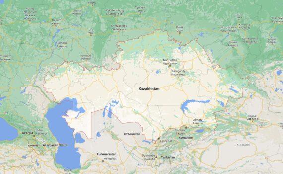 Kazakhstan Border Countries Map