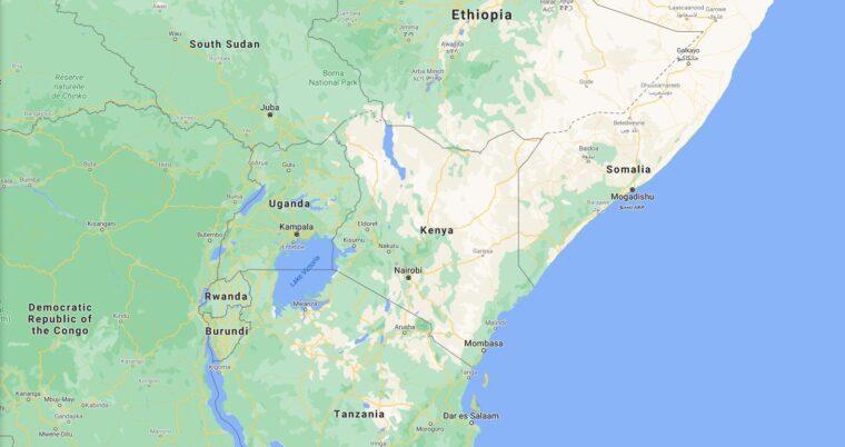 Kenya Border Countries Map