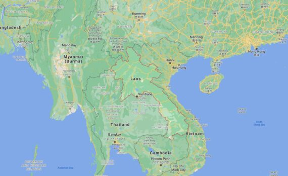 Laos Border Countries Map