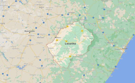 Lesotho Border Countries Map