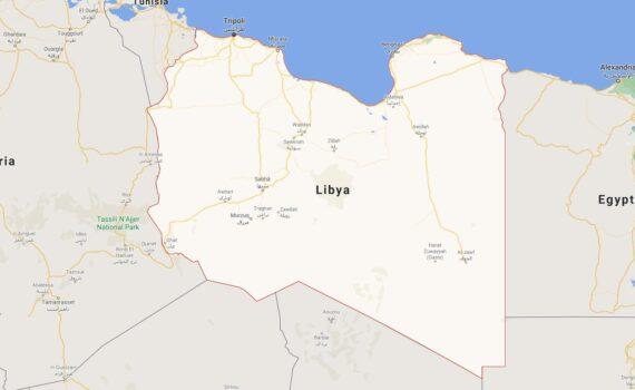 Libya Border Countries Map