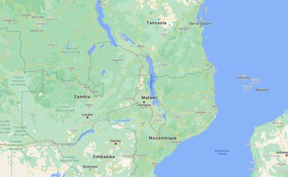 Malawi Border Countries Map