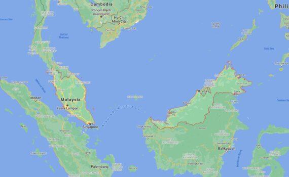 Malaysia Border Countries Map