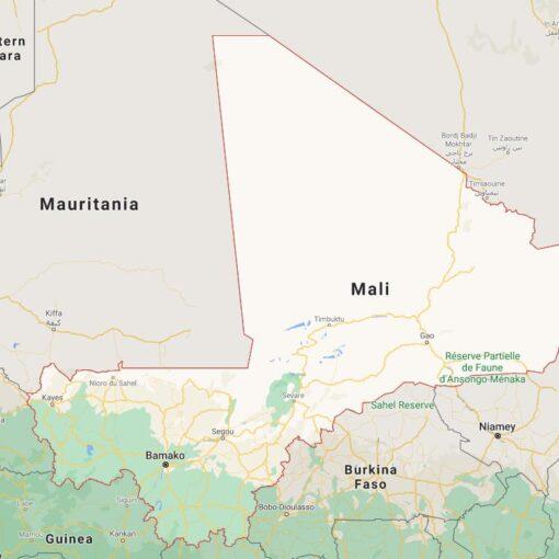 Mali Border Countries Map