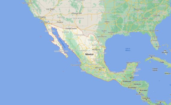 Mexico Border Countries Map