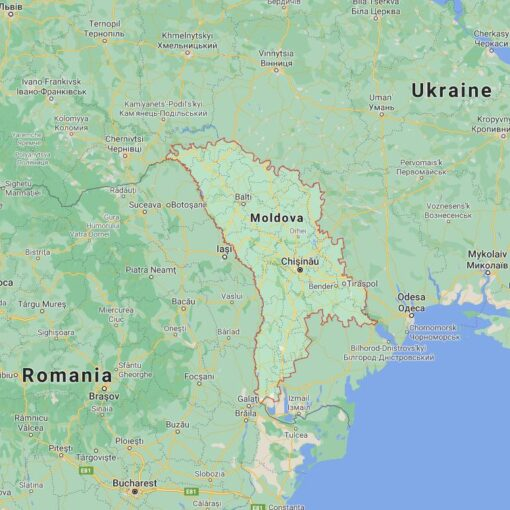 Moldova Border Countries Map