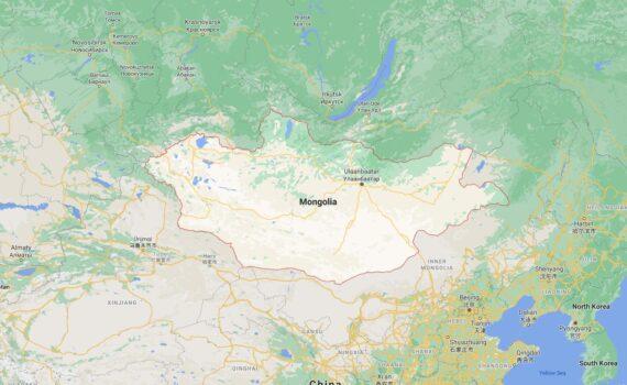 Mongolia Border Countries Map