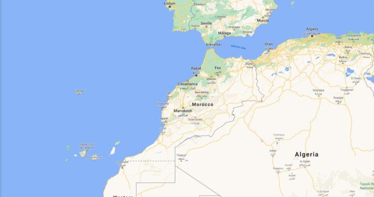 Morocco Border Countries Map
