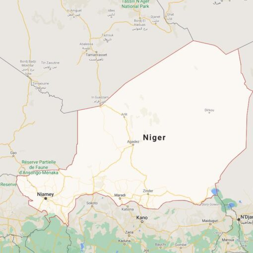 Niger Border Countries Map
