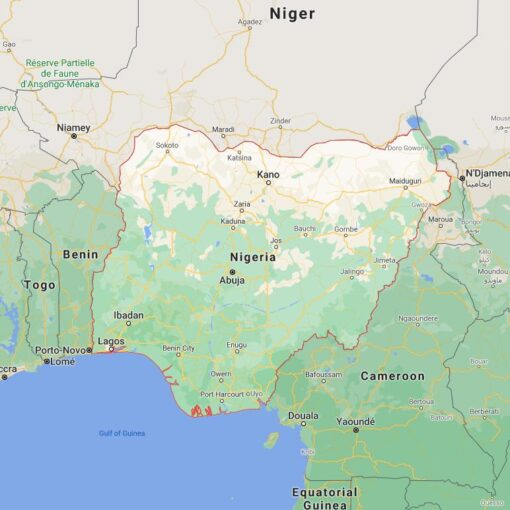 Nigeria Border Countries Map