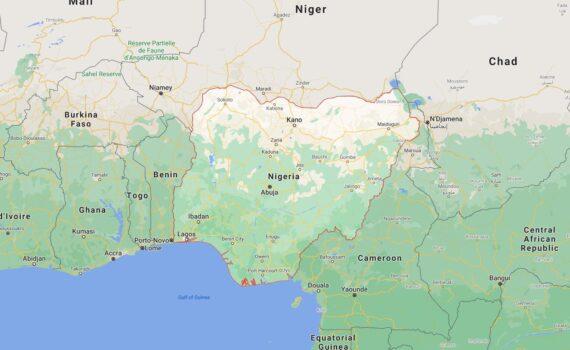 Nigeria Border Countries Map