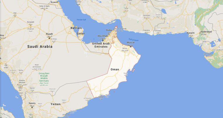 Oman Border Countries Map