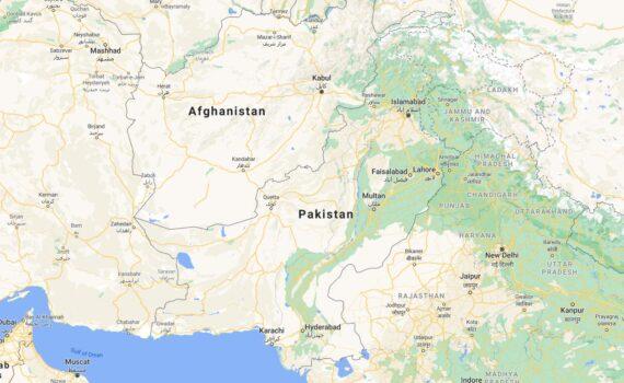 Pakistan Border Countries Map