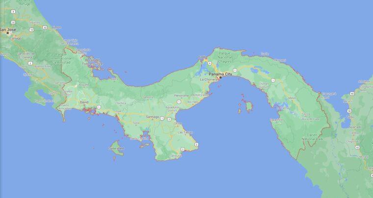 Panama Border Countries Map