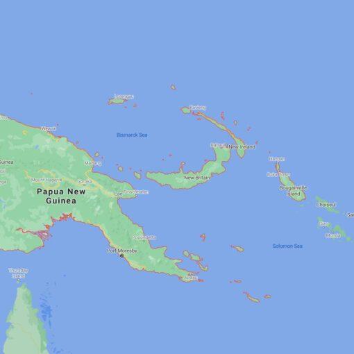 Papua New Guinea Border Countries Map