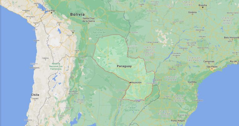 Paraguay Border Countries Map