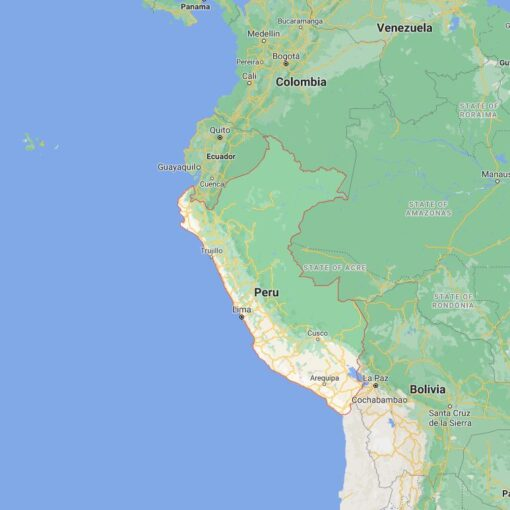 Peru Border Countries Map