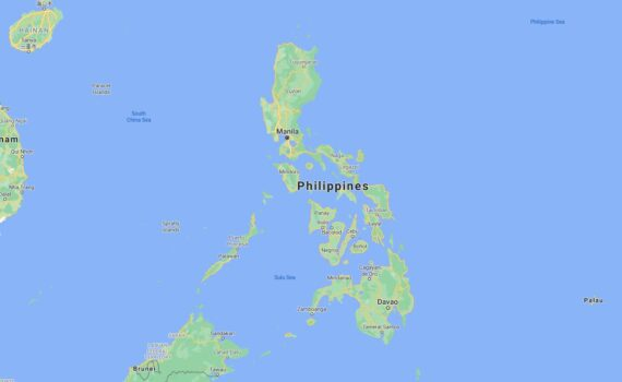 Philippines Border Countries Map