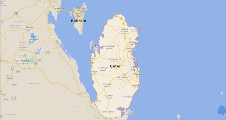 Qatar Border Countries Map