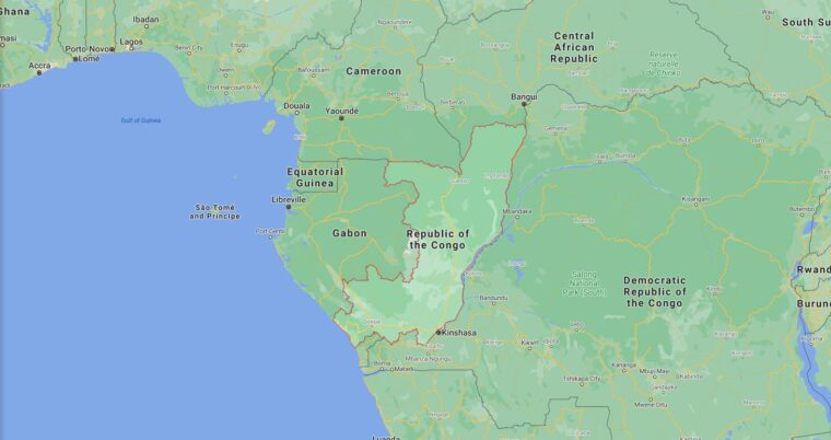 Republic Of The Congo Border Countries Map