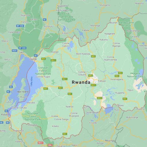 Rwanda Border Countries Map