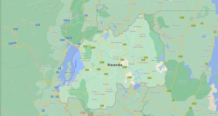 Rwanda Border Countries Map