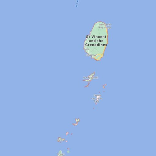 Saint Vincent and The Grenadines Border Countries Map