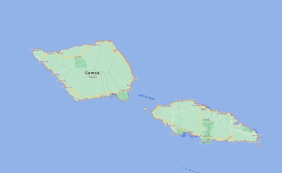 Samoa Border Countries Map