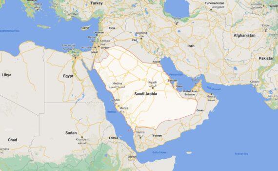 Saudi Arabia Border Countries Map