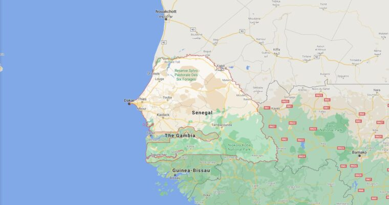 Senegal Border Countries Map