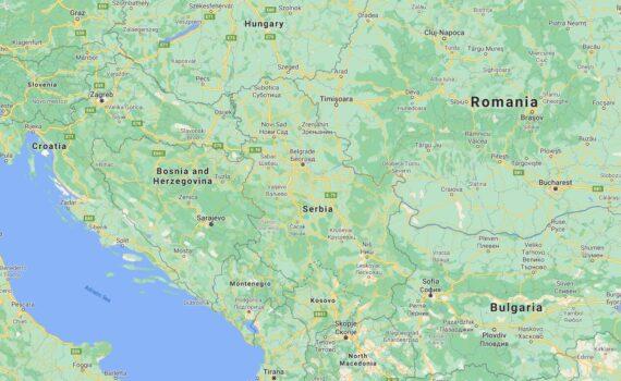 Serbia Border Countries Map