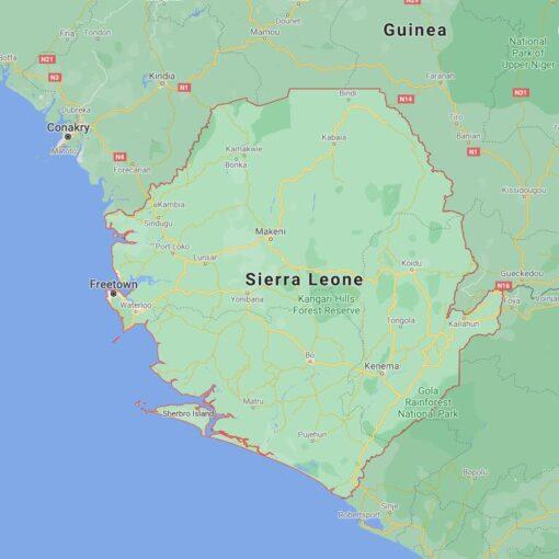 Sierra Leone Border Countries Map