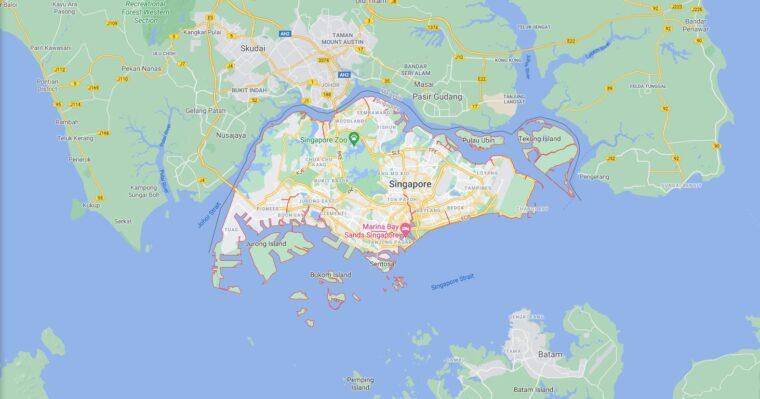 Singapore Border Countries Map