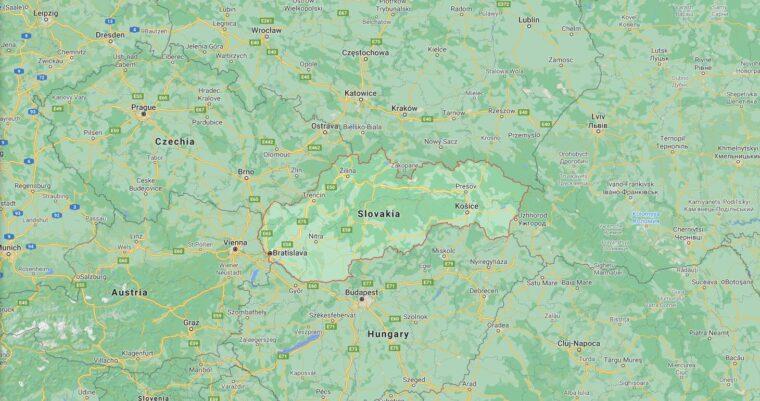 Slovakia Border Countries Map