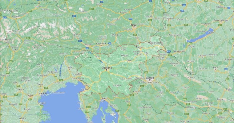Slovenia Border Countries Map