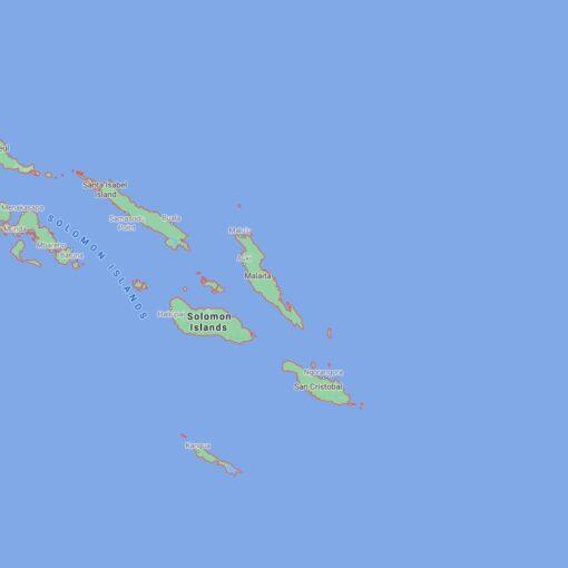 Solomon Islands Border Countries Map