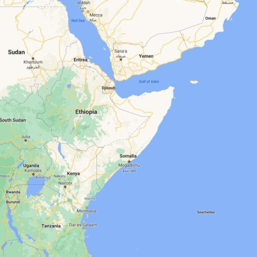 Somalia Border Countries Map