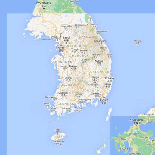 South Korea Border Countries Map