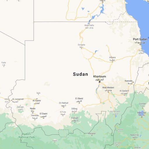 Sudan Border Countries Map