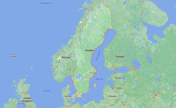 Sweden Border Countries Map